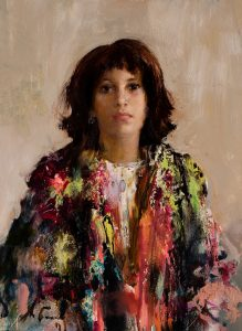 Brunette with Shawl | Nikolai Blokhin