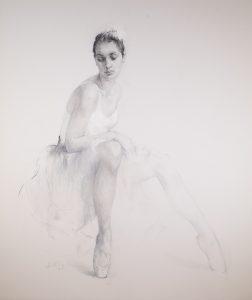 Ballerina Sitting | Nikolai Blokhin